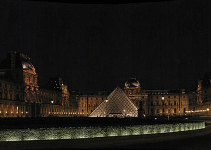 Louvre Greeting Card featuring the photograph Louvre by Gary Lobdell