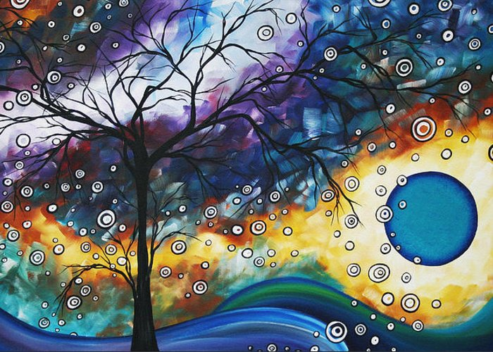 Wall Greeting Card featuring the painting Love And Laughter By Madart by Megan Duncanson