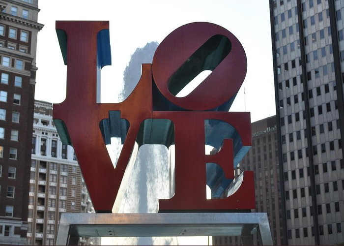 Philly Greeting Card featuring the photograph Love by Brynn Ditsche
