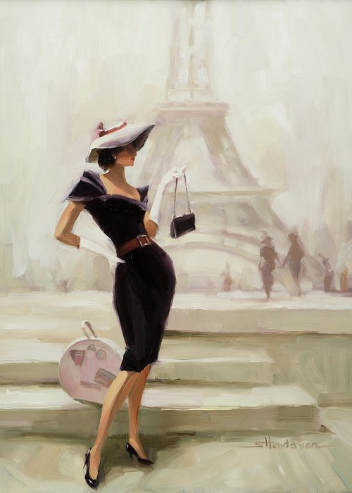 Paris Greeting Card featuring the painting Love, from Paris by Steve Henderson