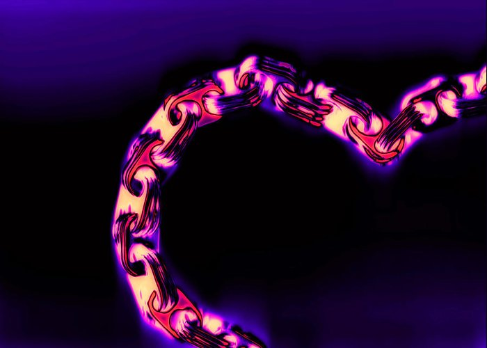 Scan Greeting Card featuring the photograph Love Glows Strong by Dolly Mohr