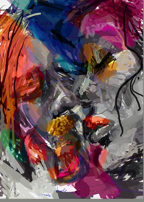 Man Greeting Card featuring the digital art Love Hate Being by James Thomas