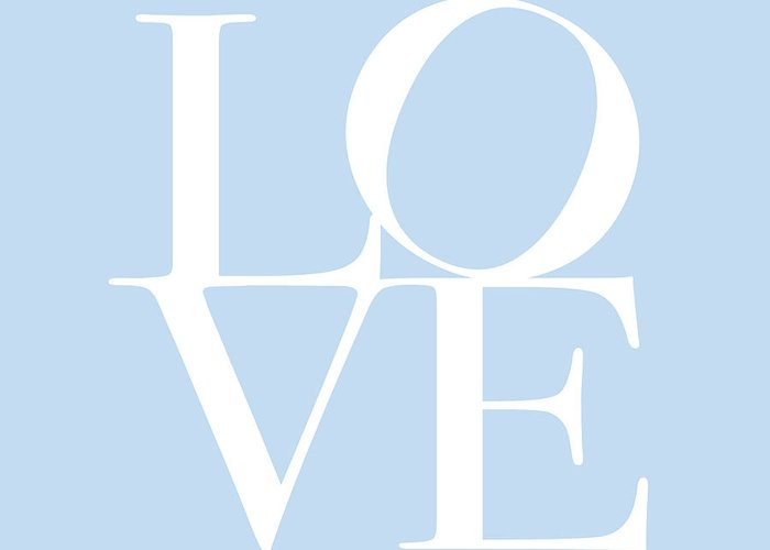 Love Greeting Card featuring the digital art Love In Baby Blue by Michael Tompsett