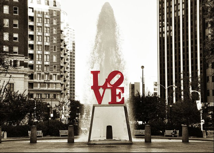Love Park Digital Art Greeting Cards