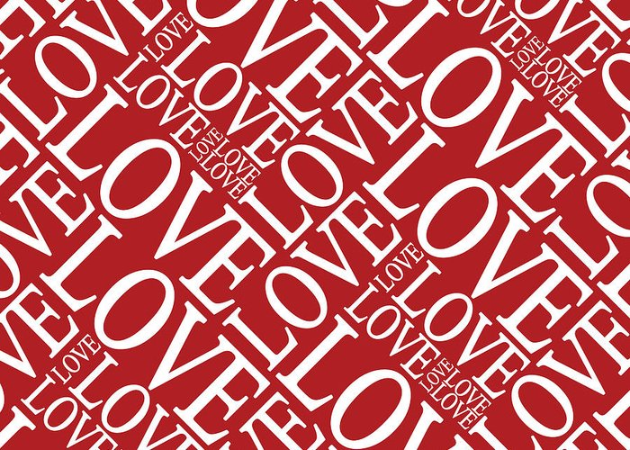 Love Greeting Card featuring the digital art Love In Red by Michael Tompsett