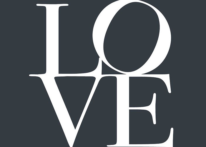 Love Greeting Card featuring the digital art Love In Slate Grey by Michael Tompsett