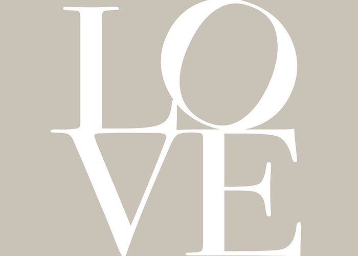 Love Greeting Card featuring the digital art Love In Taupe by Michael Tompsett