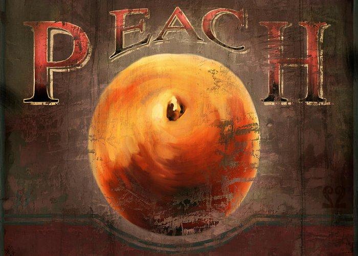 Peach Greeting Card featuring the digital art Love Is A Peach by Joel Payne