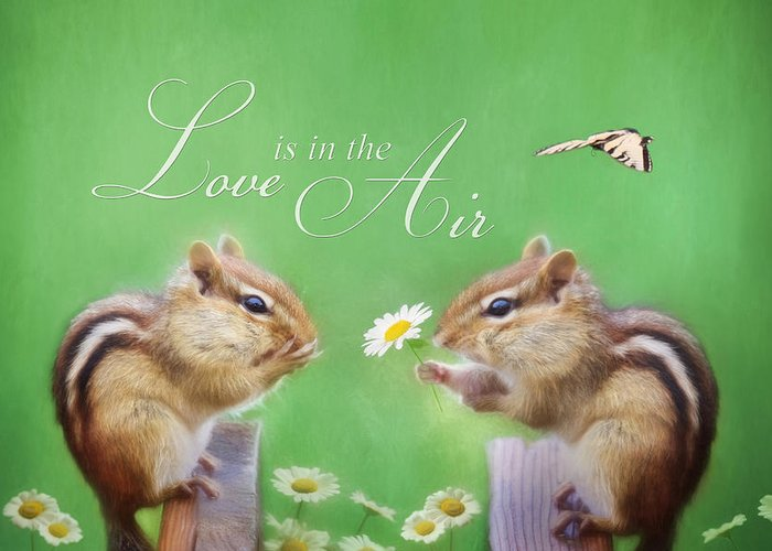 Chippy Greeting Card featuring the photograph Love Is In The Air by Lori Deiter