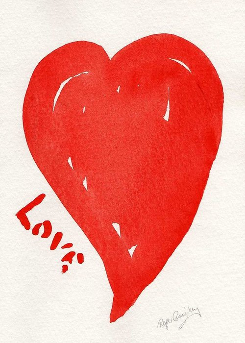 Love Greeting Card featuring the painting Love Is.... by Roger Cummiskey