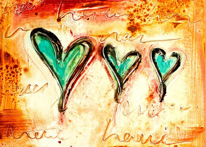 Heart Greeting Card featuring the mixed media Love by Ivan Guaderrama