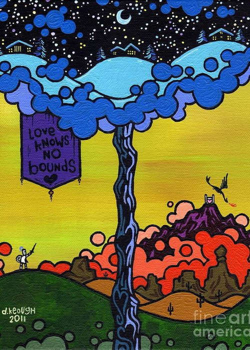 Love Greeting Card featuring the painting Love Knows No Bounds by Dan Keough