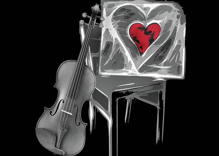 Love Greeting Card featuring the photograph Love Melody by Manfred Lutzius