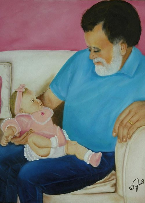 Children.child Greeting Card featuring the painting Love Passed On Through The Years by Joni McPherson