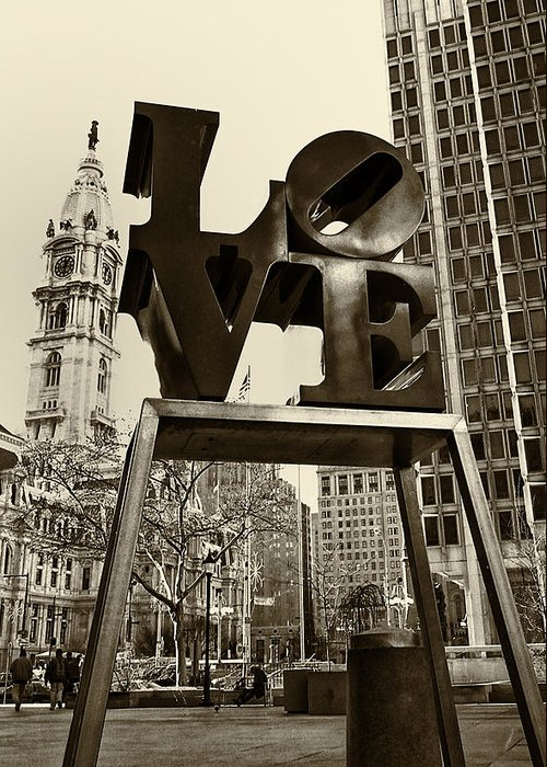 Love Greeting Card featuring the photograph Love Philadelphia by Jack Paolini