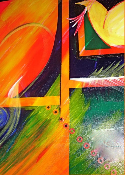 Love Greeting Card featuring the painting Love Song by Sheila J Hall