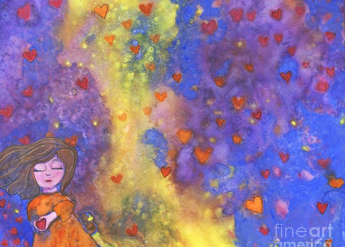 Love Greeting Card featuring the painting Love Will Find You by AnaLisa Rutstein