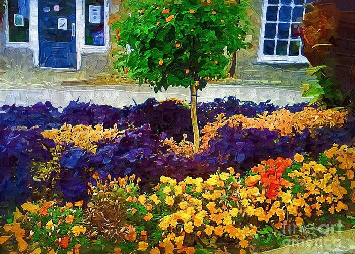 Colorful Flowers Greeting Card featuring the painting Lovely Colors by Deborah Selib-Haig DMacq