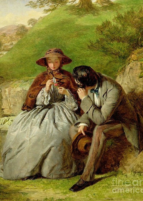 Lovers Greeting Card featuring the painting Lovers by William Powell Frith