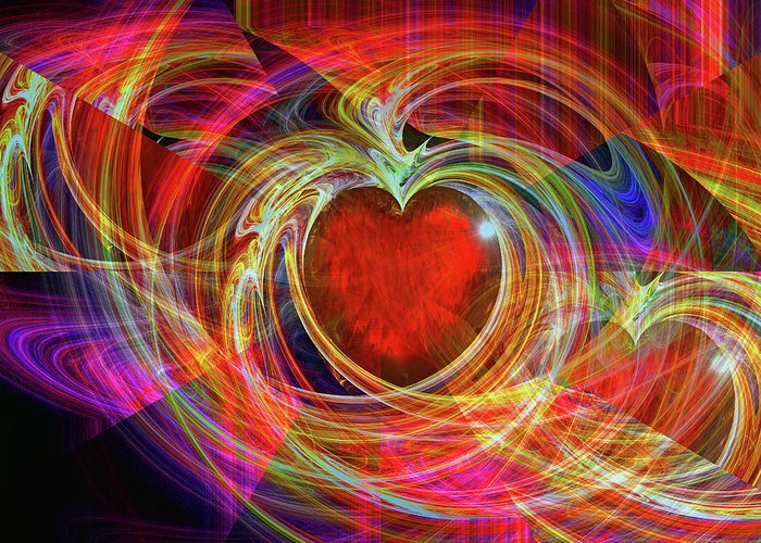 Digital Greeting Card featuring the digital art Love's Joy by Michael Durst