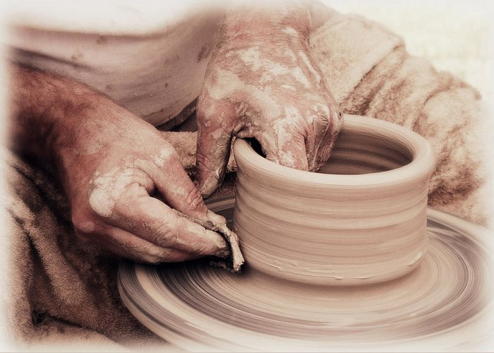 Art Greeting Card featuring the photograph Loving Hands Creation by Emanuel Tanjala