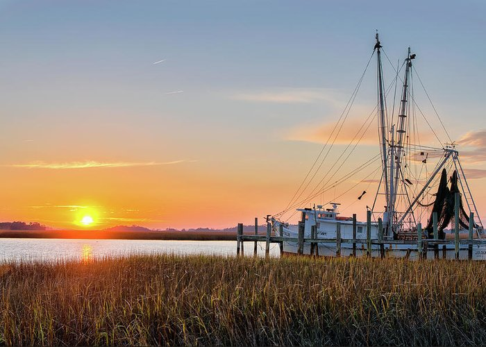 Abandoned Greeting Card featuring the photograph Lowcountry Sunset by Drew Castelhano
