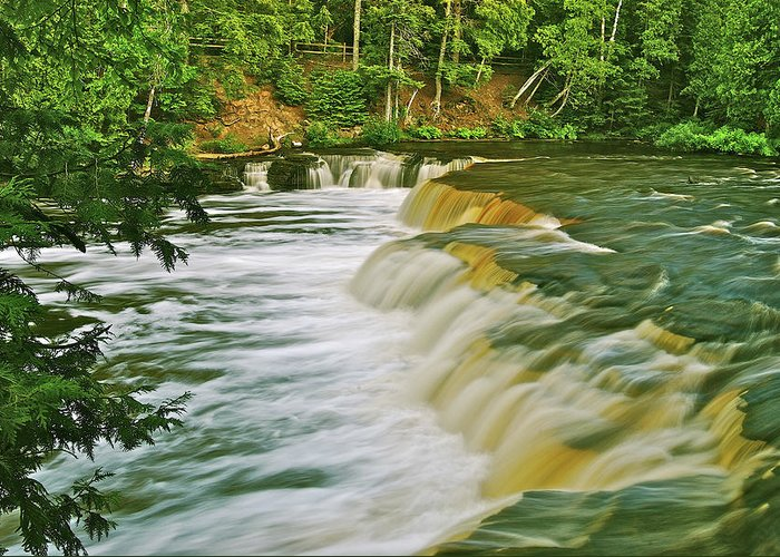 Tahquamenon Greeting Card featuring the photograph Lower Tahquamenon 6200 by Michael Peychich