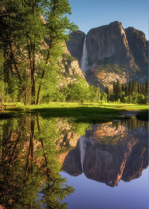 National Park Greeting Card featuring the photograph Lower Yosemite Morning by Darren White
