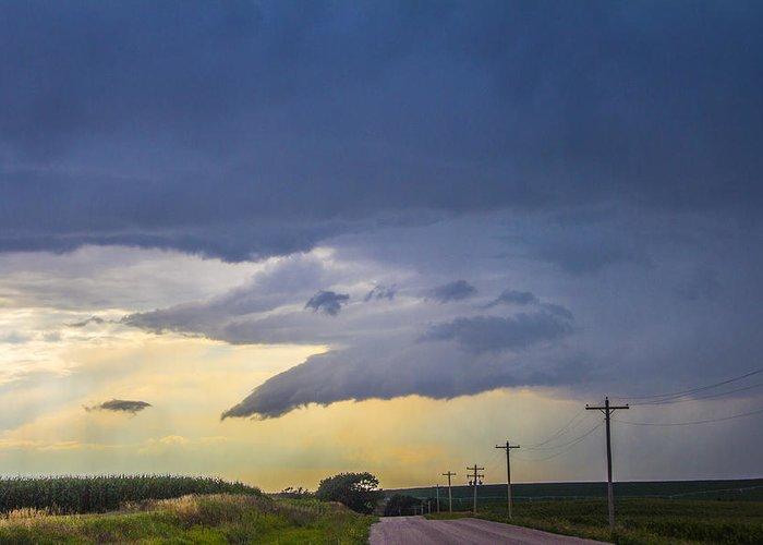 Nebraskasc Greeting Card featuring the photograph Lp Nebraska Storm Cells 005 by NebraskaSC