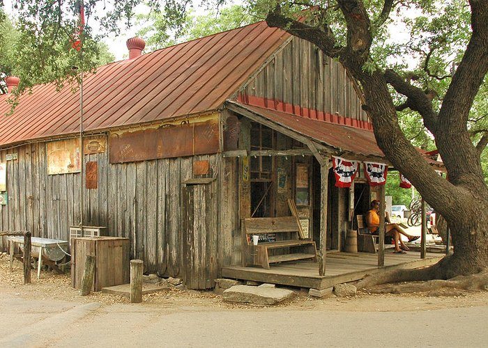 Luckenbach Greeting Card featuring the photograph Luckenbach Store by Robert Anschutz