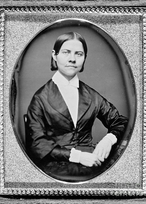 History Greeting Card featuring the photograph Lucy Stone, American Abolitionist by Photo Researchers