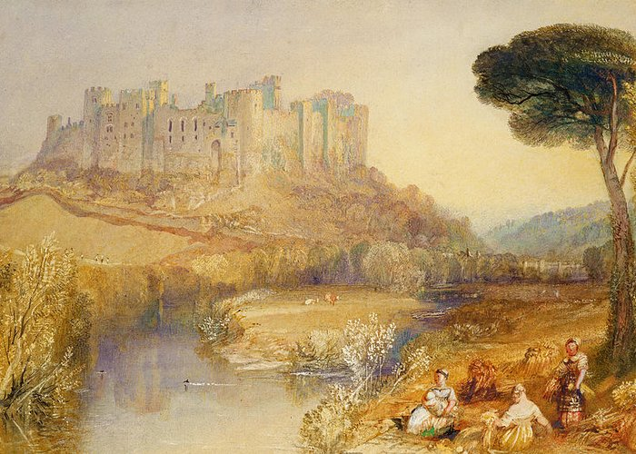 Ludlow Greeting Card featuring the painting Ludlow Castle by Joseph Mallord William Turner