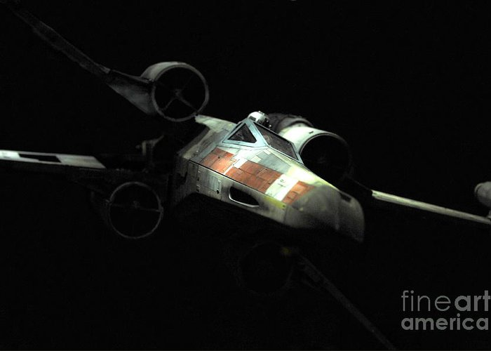 X-wing Greeting Card featuring the photograph Luke's Original X-wing by Micah May
