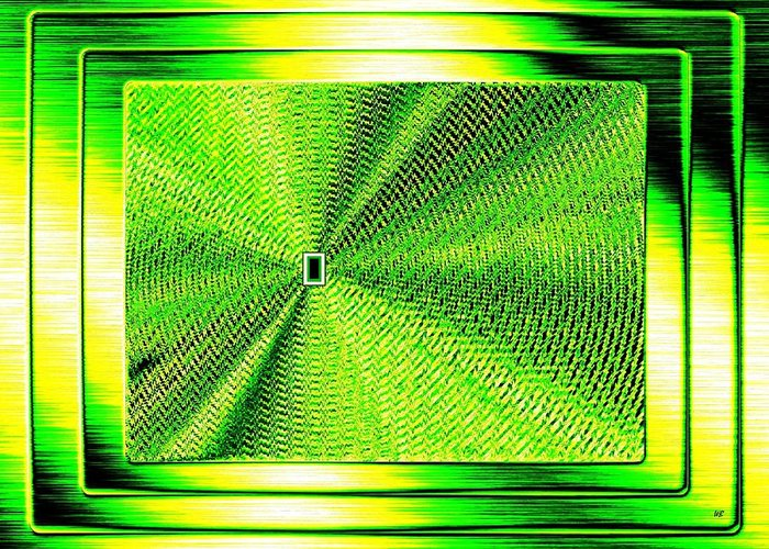 Abstract Greeting Card featuring the digital art Luminous Energy 14 by Will Borden