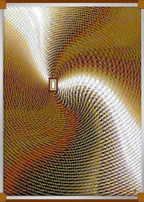 Abstract Greeting Card featuring the digital art Luminous Energy 16 by Will Borden