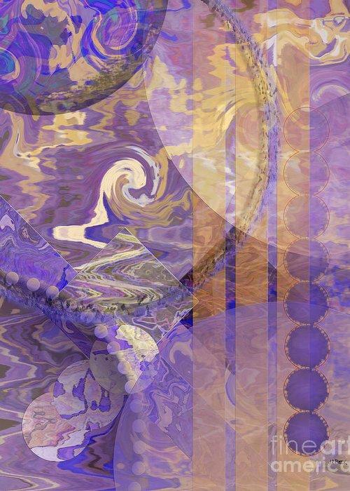 Lunar Impressions Greeting Card featuring the digital art Lunar Impressions by John Beck