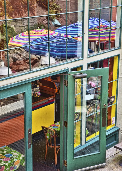 Colorful Greeting Card featuring the photograph Lunchtime At The Market by Eggers Photography