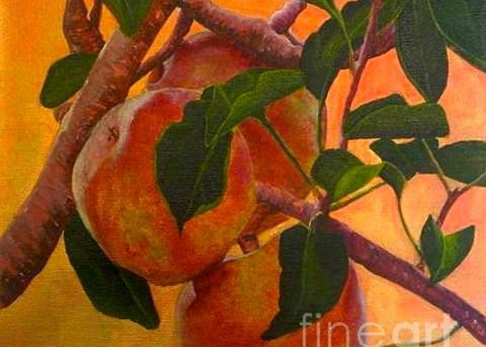 Apples Greeting Card featuring the painting Luscious Apples by Mattie O