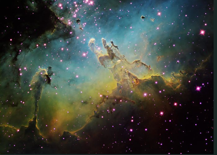 Astronomy Greeting Card featuring the photograph M16 The Eagle Nebula by Ken Crawford