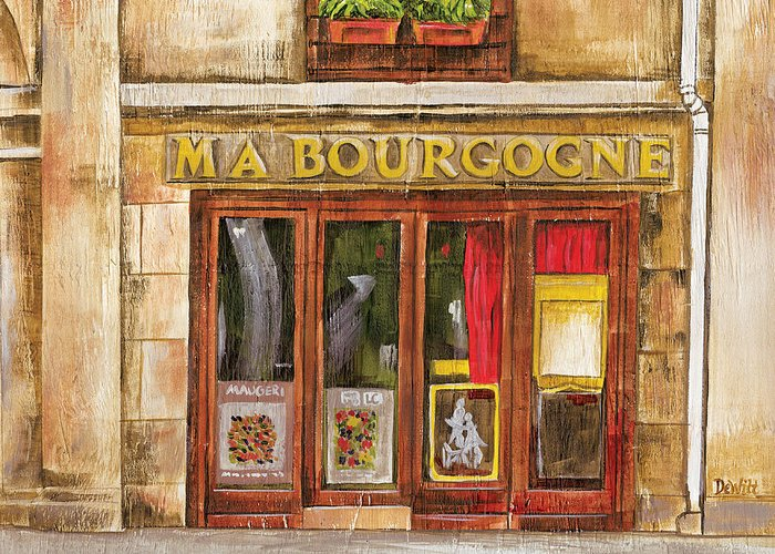 French Greeting Card featuring the painting Ma Bourgogne by Debbie DeWitt