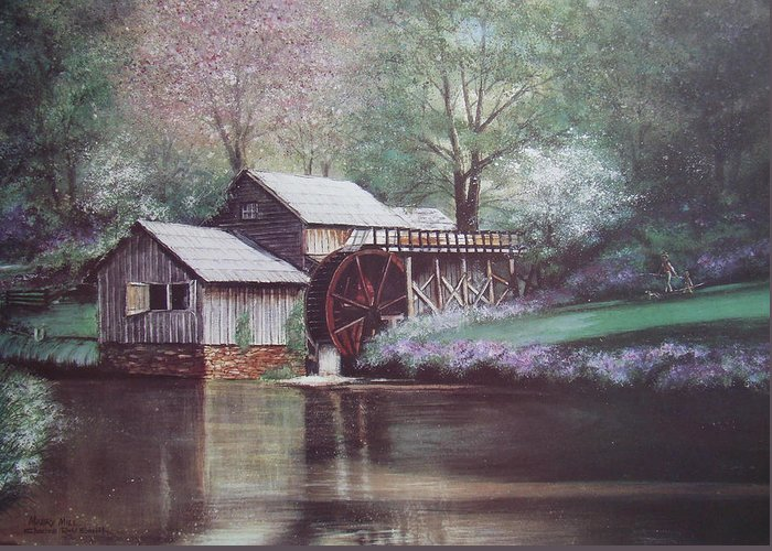 Charles Roy Smith Greeting Card featuring the painting Mabry Mills by Charles Roy Smith
