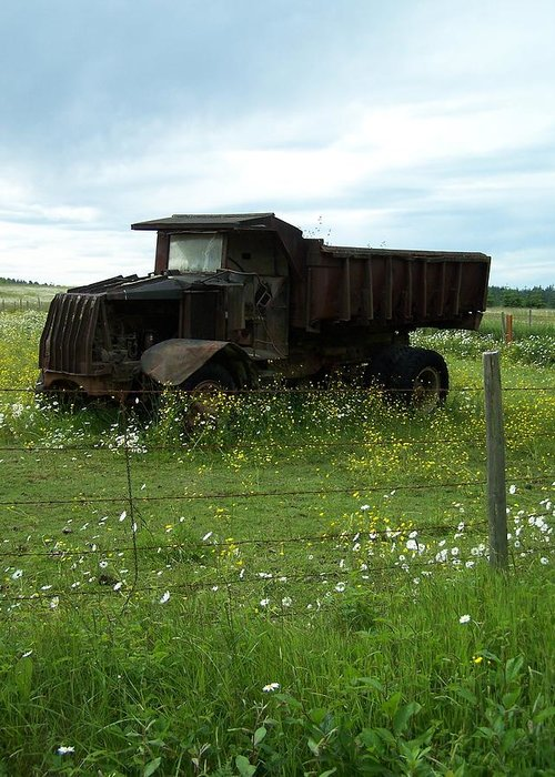 Mack Truck Greeting Card featuring the photograph Mack Truck by Gene Ritchhart