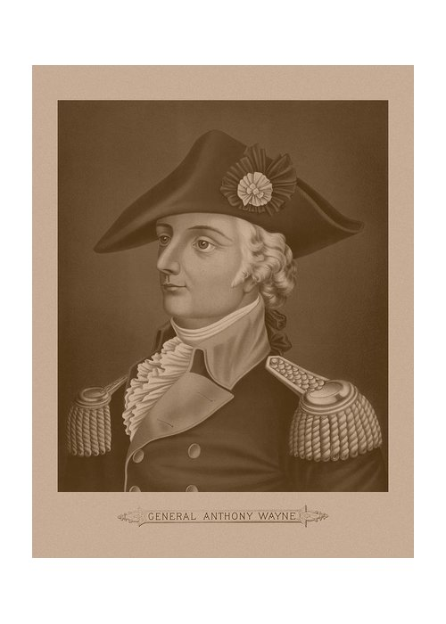 Revolutionary War Greeting Card featuring the mixed media Mad Anthony Wayne by War Is Hell Store
