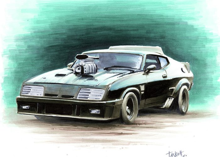 Mad Max V8 >> Mad Max S V8 Interceptor Greeting Card For Sale By Billy Tackett