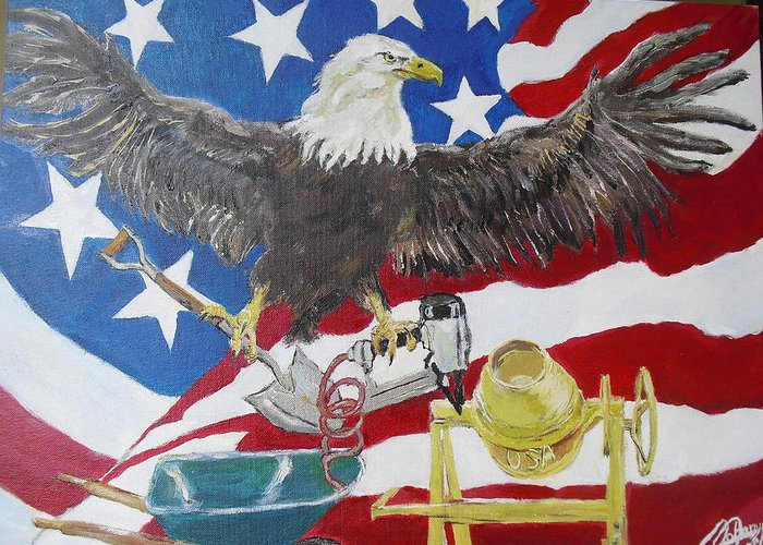 America Greeting Card featuring the painting Made In America by John Cappello