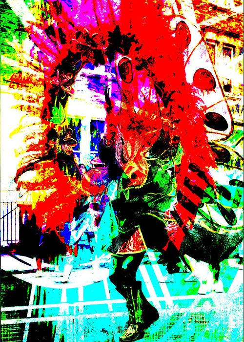 Abstract Greeting Card featuring the photograph Madi Gras by Brian Roscorla