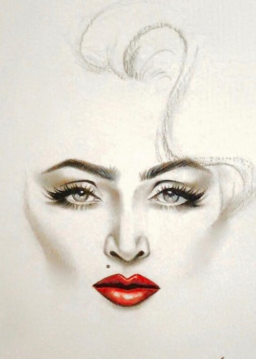 Madonna Material Greeting Card For Sale By Willberg Layun