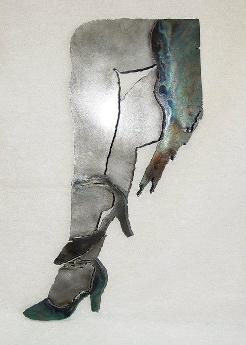 Dancer Greeting Card featuring the sculpture Mae Sold by Steve Mudge
