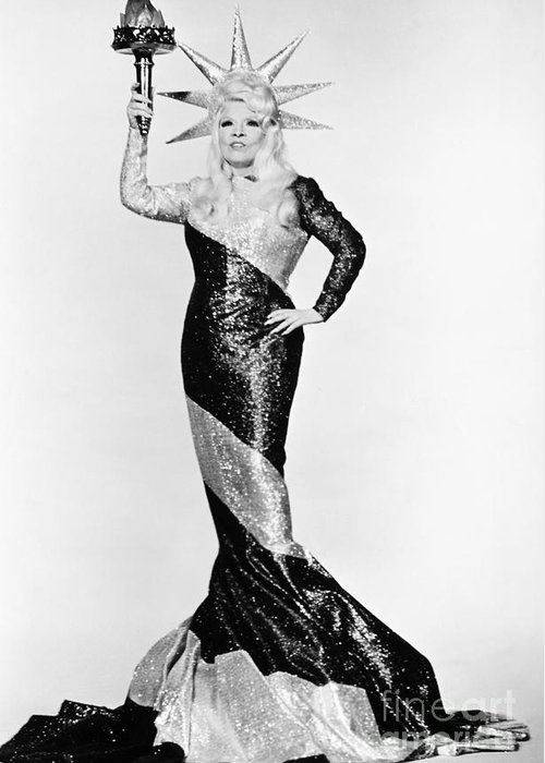 20th Century Greeting Card featuring the photograph Mae West (1892-1980) by Granger