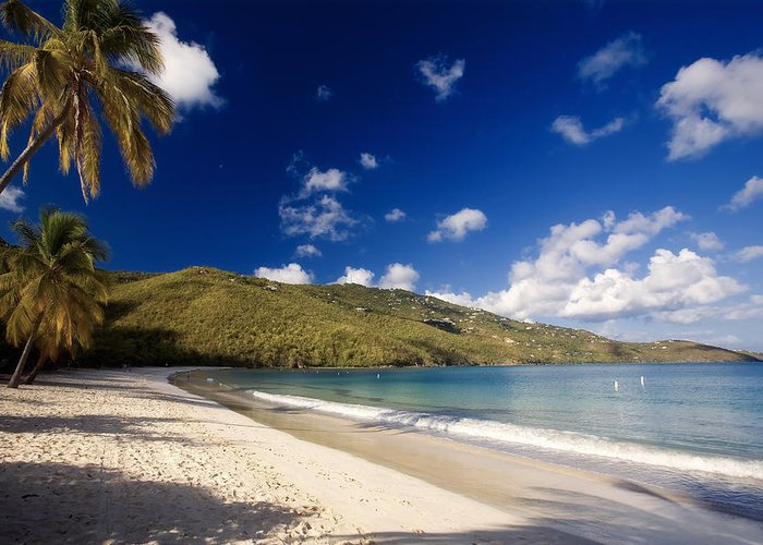 Beach Greeting Card featuring the photograph Magens Bay Morning St Thomas Us Virgin Islands by George Oze